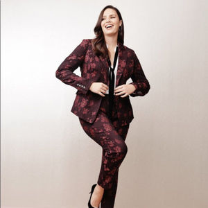 {WHBM} Floral One Button Jacket